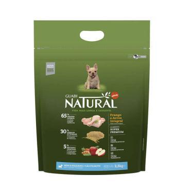 Ração Affinity Guabi Natural Frango e Arroz Integral para Cães Filhotes Raças Mini e Pequena - 2,5 Kg