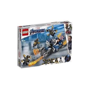 Lego 76123 Vingadores Ultimato Capitão América Moto Ataque Outriders 167 peças