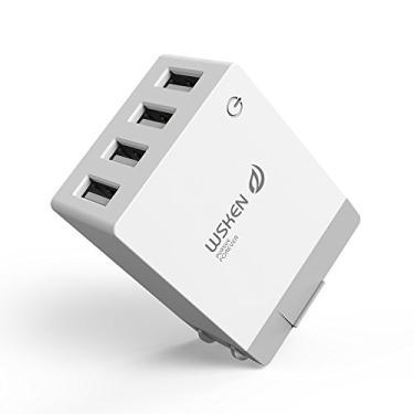 Andoer 5V 2.1A Carregador USB Inteligente de 4 Portas EUA Plug Viagem Carregador de Parede Adaptador de Alimentação de Carregamento Universal Mobile Phone Tablet para iPhone X Samsung S9 Plus