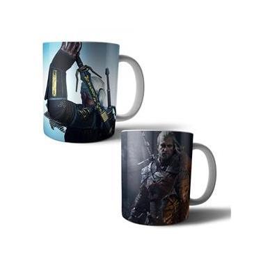 Jogo com 2 Canecas Porcelana The Witcher 3: Wild Hunt Geralt 350ml (BD01)