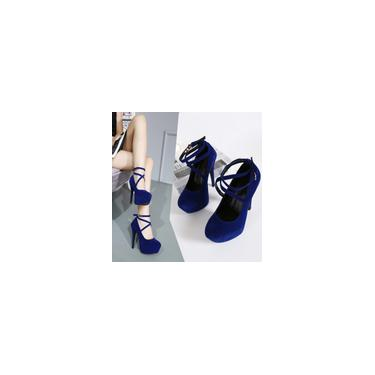Sapatos femininos de salto fino casual de primavera. Sapatos de salto alto superficiais redondos cool 10454