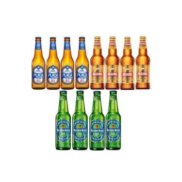 Combo Cerveja Sem Álcool Long Neck Pilsen - 12 uds - Nacional