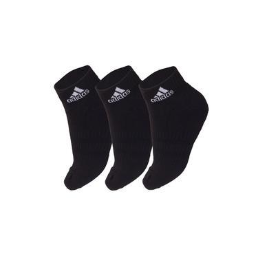Imagem de Meia Adidas Cano Curto Cushioned Ankle Preta - Pack com 3 unidades - 38 ao 40