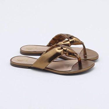 Chinelo Metalic Bronze 34