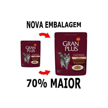 Alimento Úmido High Premium Gran Plus Sachê para Gatos Castrados Sabor Frango 85g