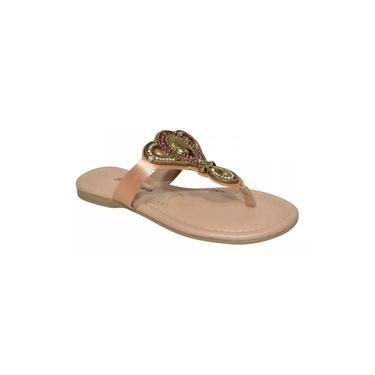 Chinelo Inf. Pink Cats Chatelet Natural c/pedras-V0841-0003