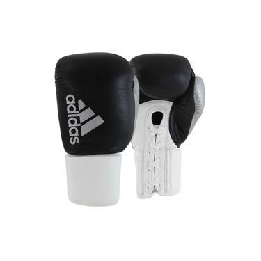 Luva de Boxe Muay Thai Hybrid 400 Pro Lace Branco/Preto-18 OZ