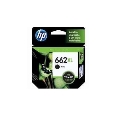 Cartucho de Tinta HP 662XL, Preto - CZ105AB