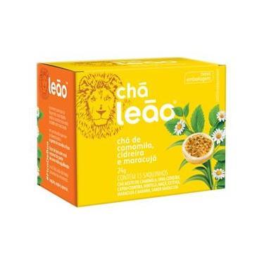 Chá Leão de Camomila, Cidreira e Maracujá Sachê 24g