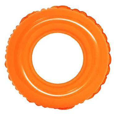 Boia Inflável De Cintura Redonda Piscina Colors 60cm - Dm Toys (Laranja)