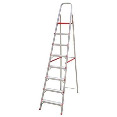 Imagem de Escada domestica de aluminio 8 degraus btf - Botafogo