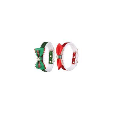 2pcs colorido Coleira de Natal Costume Dog Neckchain decorativa para Puppy