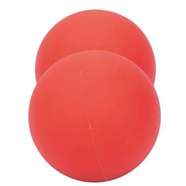 POCREATION Bola de amendoim de gel de sílica, bola de massagem de amendoim, bola de massagem de ioga para aliviar a dor, sílica versátil para exercícios femininos (vermelho)