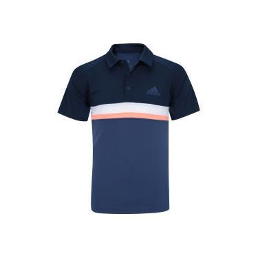 Camisa Polo com Proteção Solar UV adidas Club Colorblock TD - Masculina -  AZUL ESCURO adidas b37ee1f4728f8
