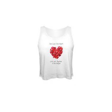 Camiseta Cropped Bob Marley One Love