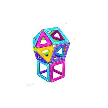 Imagem de Blocos de Montar Formas Magnéticas Com 30 Peças Dican 1615