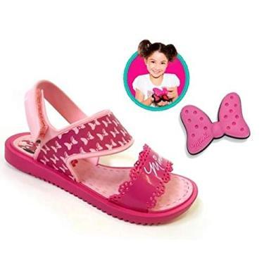 Sandália Grendene Disney Minnie Fashion Maker Infantil - Rosa - 28