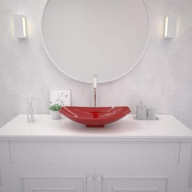 Cuba De Apoio Para Banheiro L45 Lux Canoa Compace Vermelho