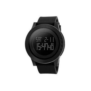 e1e5485a083 Relógio Masculino Digital Skmei Preto Resistente à Água