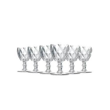 Jogo de Taças Água Diamante Clear 260ml Vidro Class Home