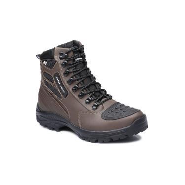 Bota Tatico Militar 100% Impermeavel Gogowear 100% Couro Ref Roadstar Cor Burnet  masculino