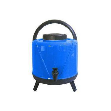 Garrafa Térmica  Botijão Água 5 Litros Com Torneira Tripé Azul