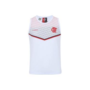 Camiseta Regata do Flamengo Cover - Infantil - BRANCO Braziline 41522c709bd83