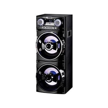 Caixa de Som Amplificada Amvox ACA 1001 Bluetooth USB Rádio FM e 1000W RMS