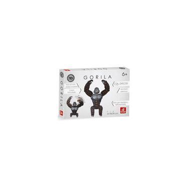 Imagem de Quebra cabeça 3D Planet Adventure Gorila 106 Peças - Brincadeira de Criança