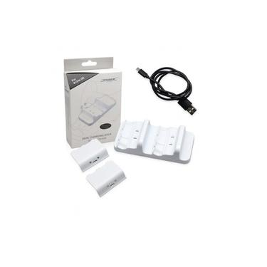 Carregador duplo com 2 Baterias Controle Xbox One S Branco -dobe