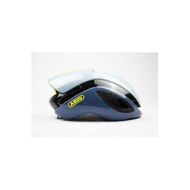 Capacete Ciclismo Abus Gamechanger Cinza e Azul Claro