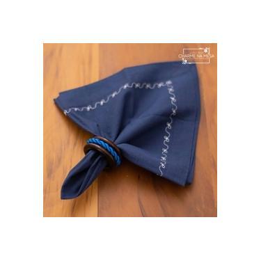 Imagem de Porta guardanapos Minimalista com cordão Azul