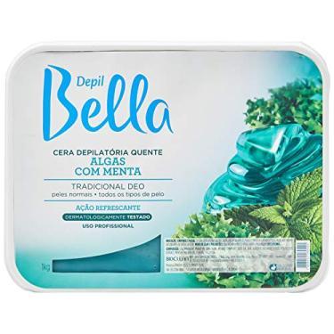 Cera Depilátoria Algas com Menta, Depil Bella, 1 Kg