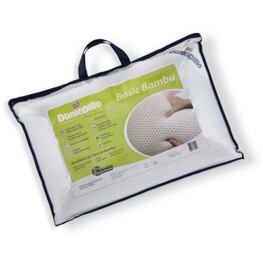 Imagem de Travesseiro de Látex Basic Dunlopillo c/ Capa de Fibra de Bambu 50 x 70 cm