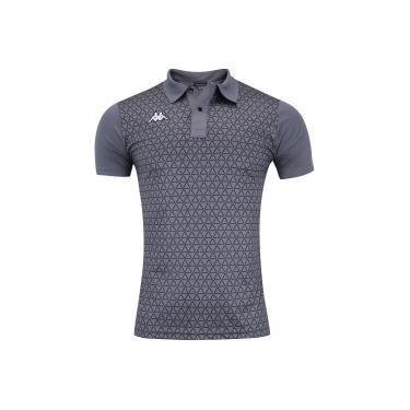 d5342bedb Camisa Polo Kappa Eric - Masculina - CINZA ESCURO Kappa