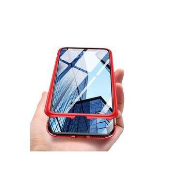 Capa Magnética Anti Impacto 360 Iphone Xs Max 6.5 Capinha Bumper Top Case Vidro Frente e Verso - Danet
