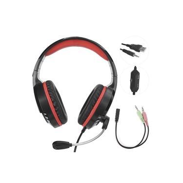 Fone de ouvido para jogos M18 estéreo som USB luz colorida com fio para computador com microfone