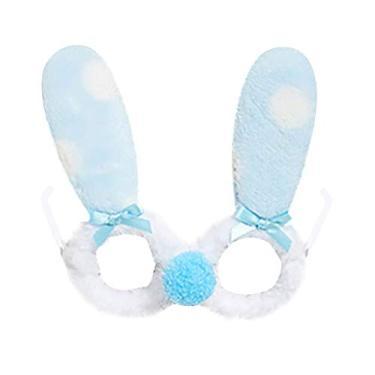 Imagem de LUOZZY Óculos de coelho adoráveis, acessórios para fantasia de coelho, acessórios para fotografia, artigos de festa de Páscoa, 3 peças