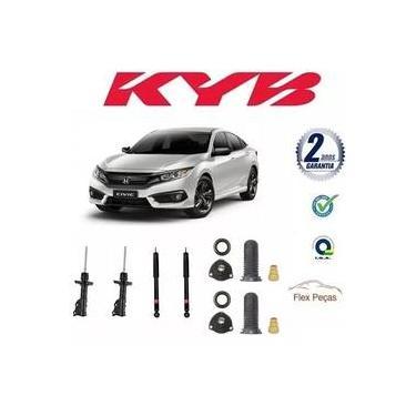 Kit 4 Amortecedores Honda New Civic 2006 2007 2008 2009 2010 2011 + Kits