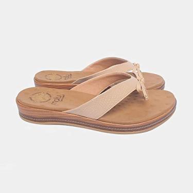 Sandália de Dedo Malu Super Comfort Núbia Feminino Nude 39