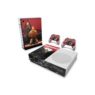 Skin Adesivo para Xbox One Slim - Wolfenstein 2 New Order
