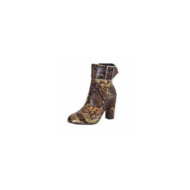 Sapato feminino de salto alto com estampa de cobra e alça de fivela de tamanho grande cool13514