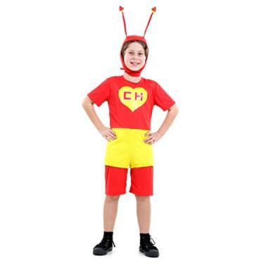 Imagem de Chapolin Colorado Pop Infantil 15113-P Sulamericana Fantasias Vermelho/Amarelo P 3/4 Anos