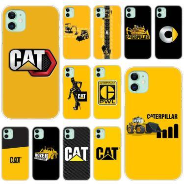 Caterpillar dozer logotipo macio silicone transparente caso para apple iphone 11 pro xs max x xr 6