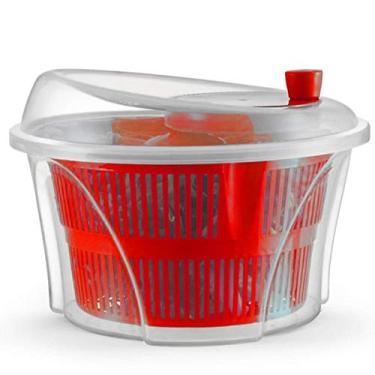 Arthi, 768206, Secador de Salada Centrifuga Seca Verduras Vegetais Manual, cor Vermelho, Polipropileno