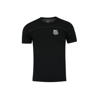 eb6b6cae4c Camiseta do Santos Recorte Meltex - Masculina - PRETO CINZA ESC Meltex
