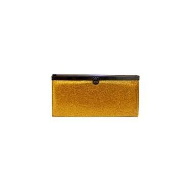 03b70c3f64 Carteira Glitter Verniz - Ouro