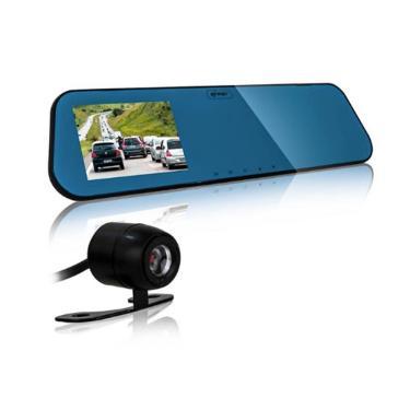 Retrovisor LCD de 4.3'', com Câmera Full HD 1080p - Frontal e Traseira com Sensor