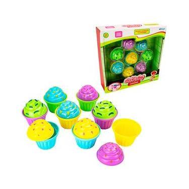 Imagem de kit cozinha infantil com cupcake doce chef 8 pecas na caixa
