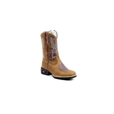 Bota Mr West Boots Kids Fossil Tabaco Azul